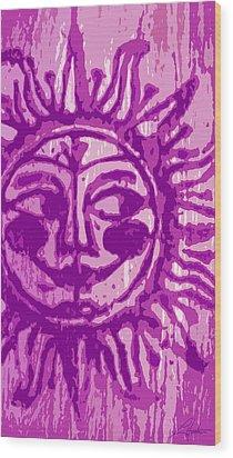 Sol - Fuschia Wood Print
