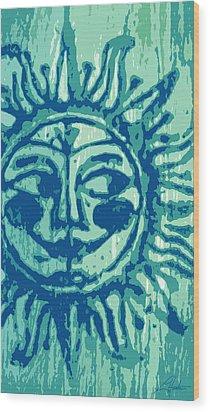 Sol -aqua Wood Print
