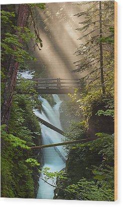 Sol Duc Falls Wood Print by Ryan Manuel