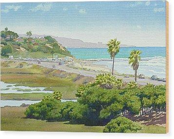 Solana Beach California Wood Print by Mary Helmreich