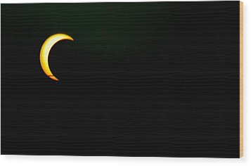 Wood Print featuring the photograph Solar Eclipse 2012 by Angela J Wright