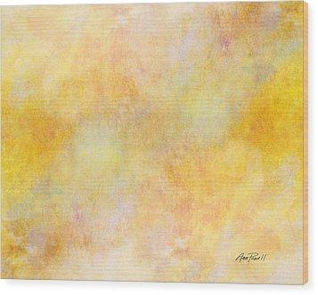 Solar Heat Abstract Art Wood Print by Ann Powell