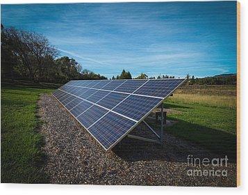 Solar Panels Mendocino County Wood Print
