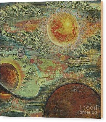 Solar Symphony Wood Print by Carol Jacobs