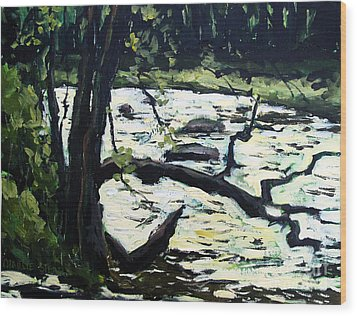 Sold Eel River From The Sandbar Wood Print by Charlie Spear