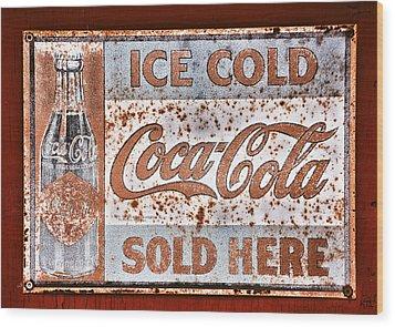 Sold Here Wood Print by Karol Livote