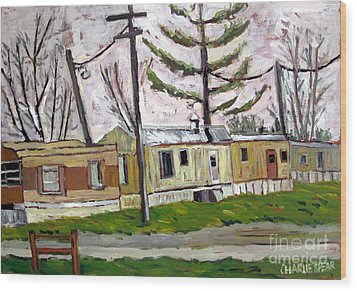 Sold Rainy Day Trailers Wood Print by Charlie Spear