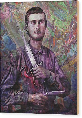 Soldier Fellow 1 Wood Print by James W Johnson