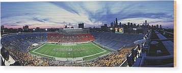 Soldier Field Football, Chicago Wood Print by Panoramic Images
