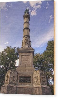 Soldiers And Sailors Monument - Boston Wood Print by Joann Vitali