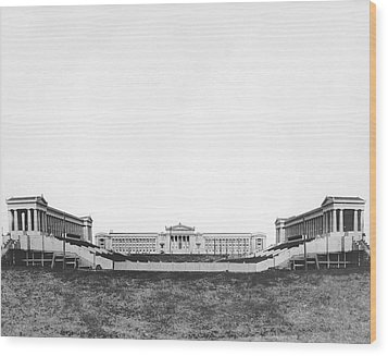 Soldiers' Field And Museum Wood Print by Underwood Archives