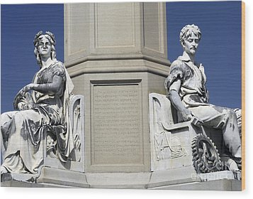 Soldiers Monument Detail Wood Print by Paul W Faust -  Impressions of Light
