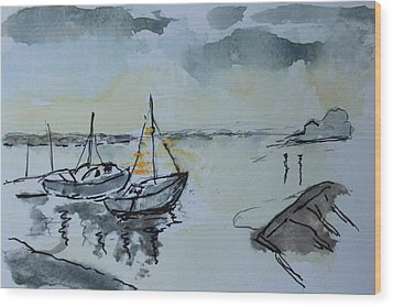 Solemn Wreck. Justin Wood Print by Rosemary Colyer