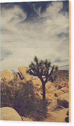 Solitary Man Wood Print by Laurie Search