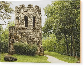 Wood Print featuring the photograph Solitary Stone Tower by Lincoln Rogers