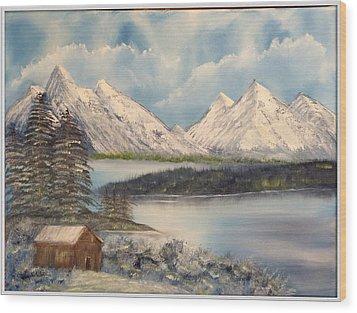 Solitude At The Lake Wood Print by Joyce Krenson