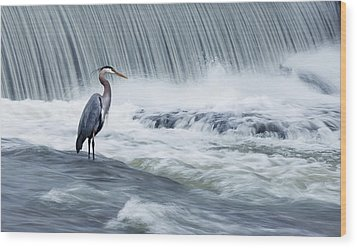 Solitude In Stormy Waters Wood Print