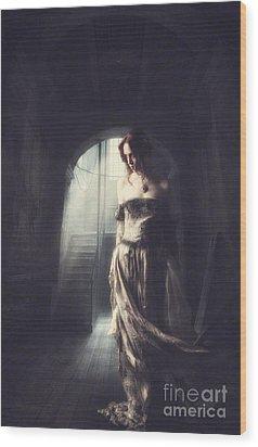 Solitude Wood Print by Lee-Anne Rafferty-Evans