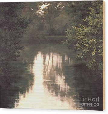 Solitude Wood Print by Michael Swanson