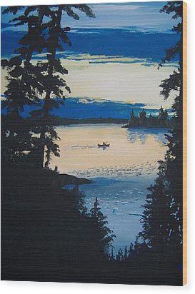 Solitude Wood Print by Norm Starks