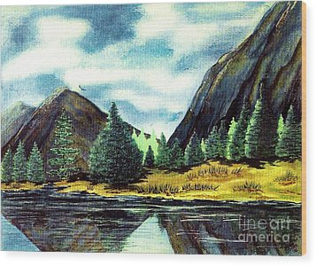 Wood Print featuring the painting Solitude by Patricia Griffin Brett