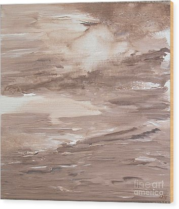 Wood Print featuring the painting Solitude by Susan  Dimitrakopoulos