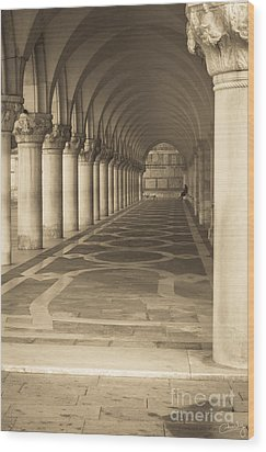 Solitude Under Palace Arches Wood Print