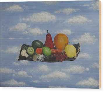 Solomon's Flying Feast Wood Print by Christina Glaser