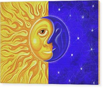 Solstice Greeting Wood Print by David Kyte