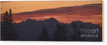 Solstice Sunset II Wood Print
