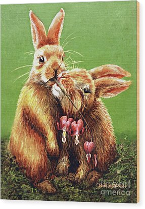 Some Bunny Loves You Wood Print by Linda Simon