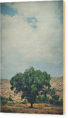 Some Days I Believe Wood Print by Laurie Search