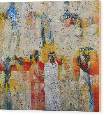 Some Follow Wood Print by Ronex Ahimbisibwe