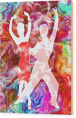 Some Like It Hot 3 Wood Print by Angelina Vick