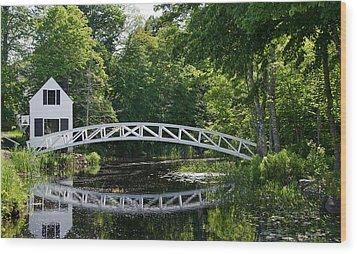 Somesville Bridge Wood Print