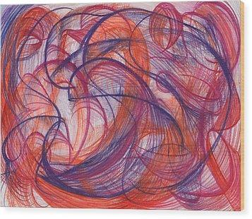 Something Larger Wood Print by Kelly K H B