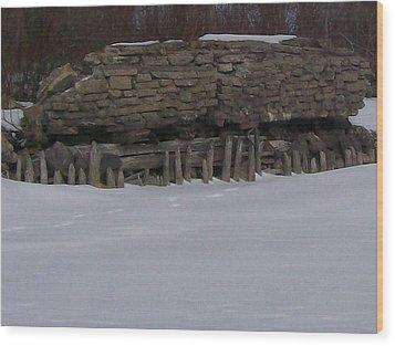 Wood Print featuring the photograph John Hinker's Coal Dock. by Jonathon Hansen