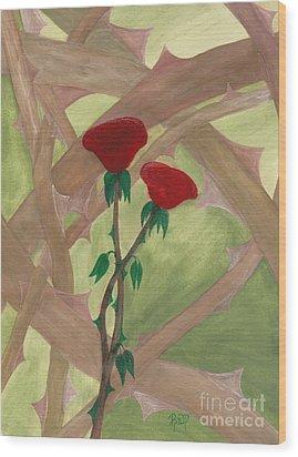 Something Simple Wood Print by Robert Meszaros