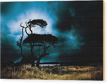 Something Wicked This Way Comes Wood Print by Shane Holsclaw