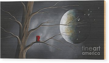 Sometimes He Just Wants To Be Alone By Shawna Erback Wood Print by Shawna Erback
