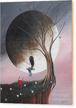 Sometimes She Just Wants To Be Alone By Shawna Erback Wood Print by Shawna Erback