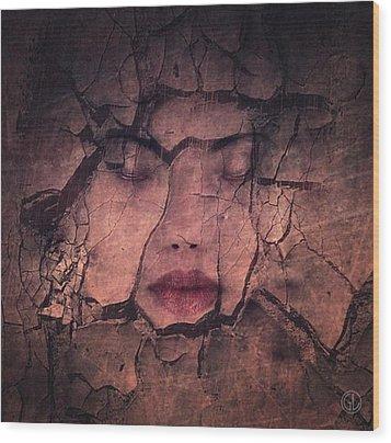 Sometimes Your Whole Life Cracks Wood Print by Gun Legler