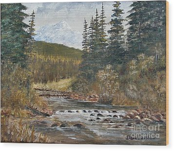 Somewhere Above South Fork Wood Print by Dana Carroll