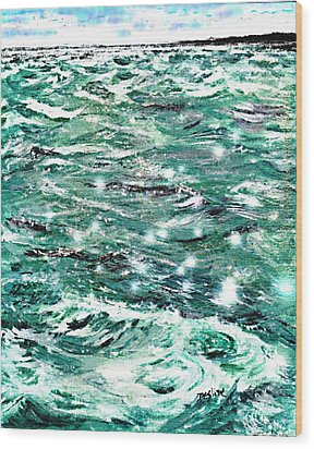 Somewhere Beyond The Sea Wood Print by Desline Vitto
