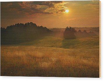Somewhere In A Dream Wood Print by Rob Blair
