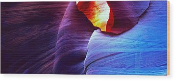 Wood Print featuring the photograph Somewhere In America Series - Blue In Antelope Canyon by Lilia D