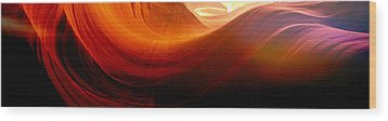 Wood Print featuring the photograph Somewhere In America Series - Red Waves In Antelope Canyon by Lilia D