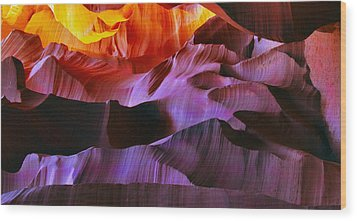Wood Print featuring the photograph Somewhere In America Series - Transition Of The Colors In Antelope Canyon by Lilia D