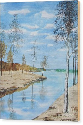 Wood Print featuring the painting Somewhere In Dalarna by Martin Howard