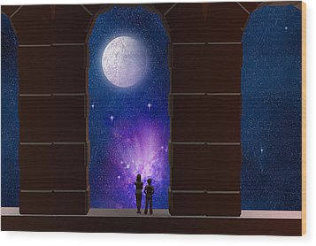 Somewhere In Time And Space Wood Print by Carol and Mike Werner